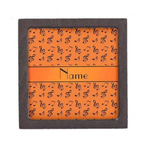 Notas anaranjadas conocidas personalizadas de la m cajas de joyas de calidad
