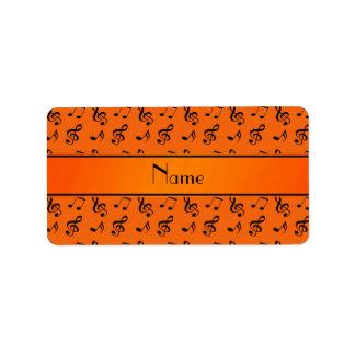 Notas anaranjadas conocidas personalizadas de la m etiqueta de dirección
