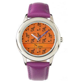 Notas anaranjadas conocidas personalizadas de la reloj