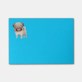 Notas azules gráficas del dibujo animado del perro post-it® nota