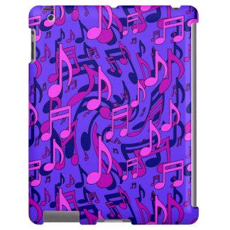 Notas azules púrpuras de la música del rosa