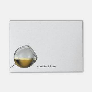 Notas blancas de la copa de vino nota post-it®
