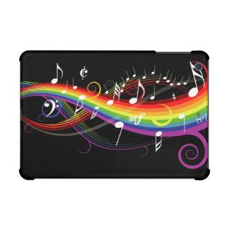 Notas blancas de la música del arco iris