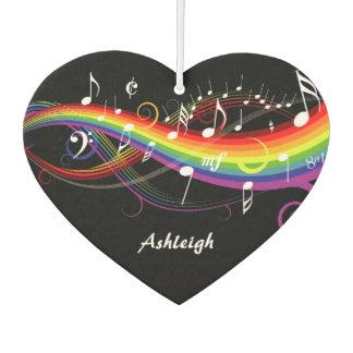 Notas blancas personalizadas de la música del arco