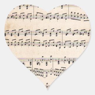 Notas blancos y negros de la cuenta de la calcomanías de corazones personalizadas
