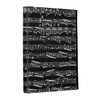 Notas blancos y negros de la música