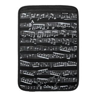 Notas blancos y negros de la música fundas macbook air