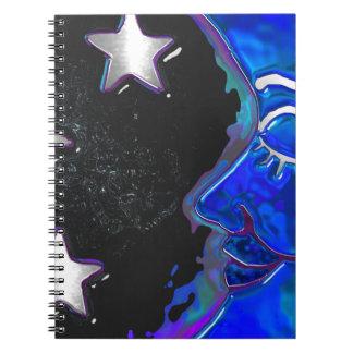 NOTAS bohemias celestiales del DIARIO del arte Libreta Espiral