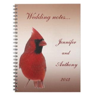 Notas cardinales del boda libros de apuntes con espiral