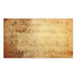 Notas clásicas antiguas de la música