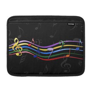 Notas coloreadas arco iris de la música fundas MacBook
