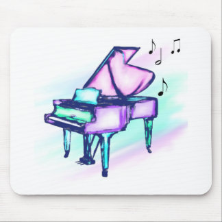 Notas coloridas de la acuarela y de la música del alfombrillas de raton