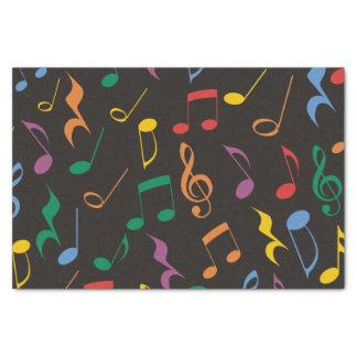 Notas coloridas de la música papel de seda pequeño