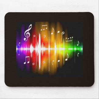 Notas coloridas de la música tapete de ratones