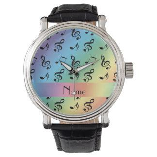 Notas conocidas personalizadas de la música del relojes de pulsera