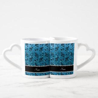 Notas conocidas personalizadas de la música del set de tazas de café