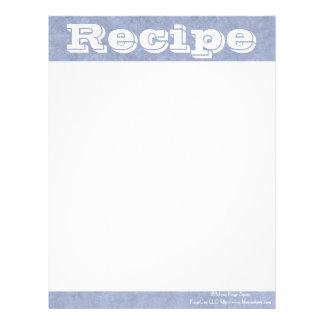 Notas de azules cambiantes de papel de la receta membrete