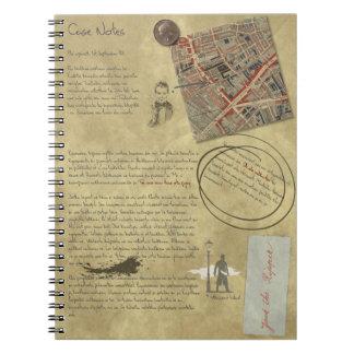 Notas de caso - cuaderno antiguo de la
