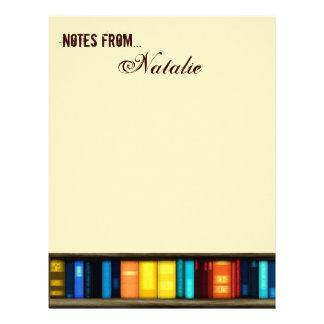 Notas de… con efectos de escritorio del papel con  membrete personalizado