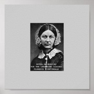 Notas de Florence Nightingale Póster
