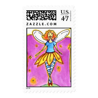 Notas de hadas sello postal