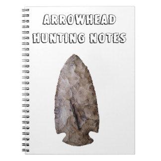 Notas de la caza de la punta de flecha libros de apuntes