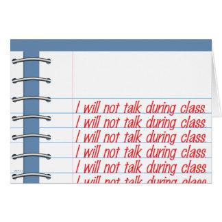 Notas de la clase tarjeta de felicitación