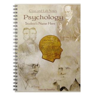 Notas de la clase y del laboratorio - psicología libros de apuntes con espiral