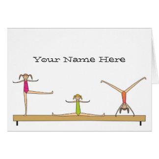 Notas de la gimnasia tarjeta pequeña