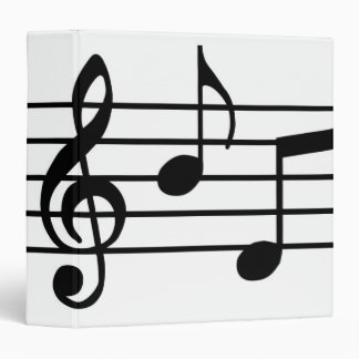 "Notas de la música carpeta 1 1/2"""