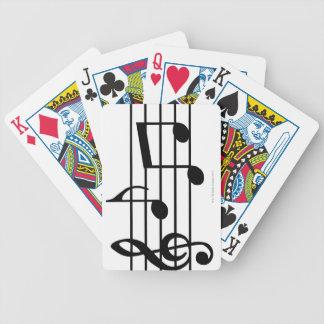 Notas de la música barajas de cartas