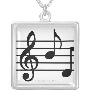 Notas de la música collares personalizados