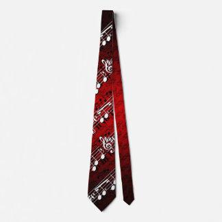 Notas de la música corbata