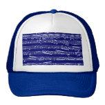 Notas de la música de los azules marinos gorra