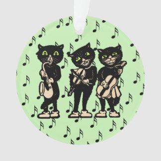 Notas de la música de los gatos negros del músico