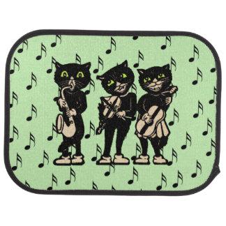 Notas de la música de los gatos negros del músico alfombrilla de coche