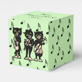 Notas de la música de los gatos negros del músico cajas para regalos