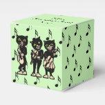 Notas de la música de los gatos negros del músico  paquetes de regalo para bodas