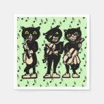 Notas de la música de los gatos negros del músico  servilleta de papel