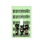 Notas de la música de los gatos negros del músico  cubierta para interruptor