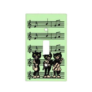 Notas de la música de los gatos negros del músico  tapas para interruptores