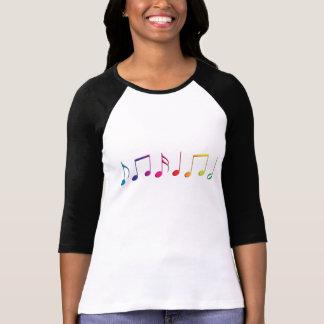 Notas de la música del arco iris playera