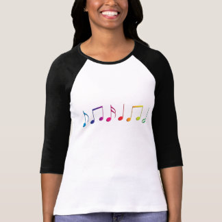 Notas de la música del arco iris playeras