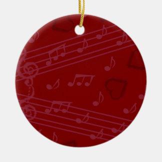 Notas de la música del navidad ornamente de reyes