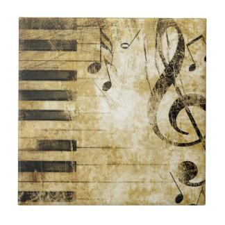 Notas de la música del piano teja cerámica