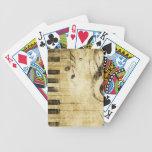 Notas de la música del piano cartas de juego