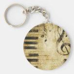Notas de la música del piano llaveros