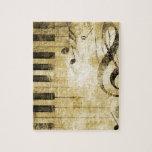 Notas de la música del piano rompecabeza con fotos
