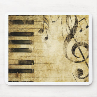Notas de la música del piano tapetes de ratón