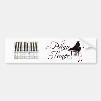 Notas de la música del sintonizador de piano con l pegatina para auto